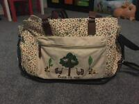 Pink lining twice as nice changing bag - busy bee