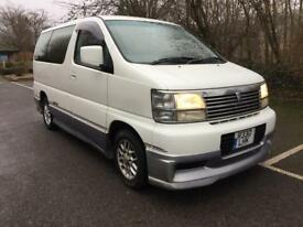 1998 NISSAN ELGRAND DIESEL WHITE/SILVER 8 SEATER AUTO