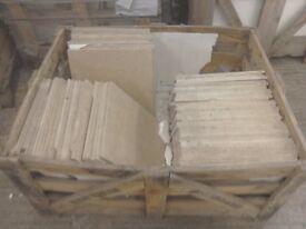 Travertine floor tile 457mm x 457mm x 12mm total is 11.20 m2 or 54 tiles