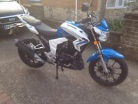 Swop my lexmoto Venom 125cc in blue & white only done 650 miles must be seen real head turner!