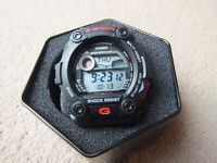 (New in box) Casio G-Shock Watch Black G-7900-1ER, tide graph moon phase and 5 alarms