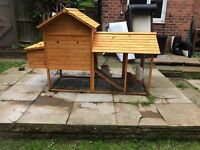 Nearly new chicken house and chickens