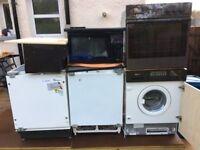 wirlpool fridge+freezer washing machine+hob+cooker+oven+microwave £40