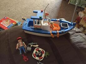 Playmobil fishing boat