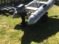Avon 3.1 meters rib with Mercury 20hp Blueband outboard