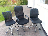 Three Office Chairs in good condition.