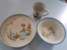Denby weaver plate bowl mug set