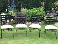 6 Dawn Marky iron dining chairs (2wicker)