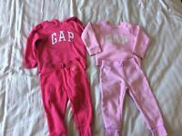 Pink GAP tracksuits 2-3 years great condition