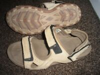 Karrimor Antibes Leather Mens Walking Sandals BEIGE, SIZE 10 UK