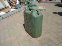 JERRY CAN. 5 GALLON CAPACITY. EX ARMY. USED FOR DIESEL STORAGE