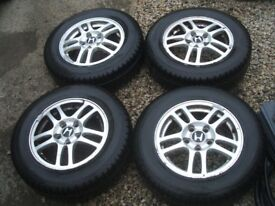 4x HONDA alloy wheels 15 inch with/out tyres 205 65 15 Avon