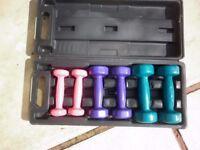 box set of 6 dumbbells
