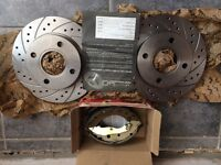 BRAND NEW: Brake discs and shoes, bought to fit 1993, Mark 5 Ford escort