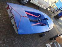 Topper sailing dinghy with harken / rooster set up rig
