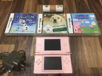 Nintendo DS Lite (Pink) & 3 games