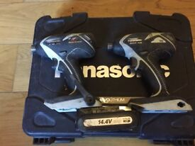 two panasonic impact drills for sale for 80 pounds