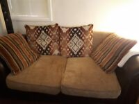 2 and 3 seater sofa. 2 seater sofa converts into a bed.