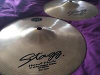 """HiHat Cymbals - Stagg 10"""" Handmade Medium Hihat Cymbals (Two Cymbals)"""