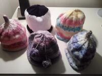 Hand Knitted Baby Beanie Hats