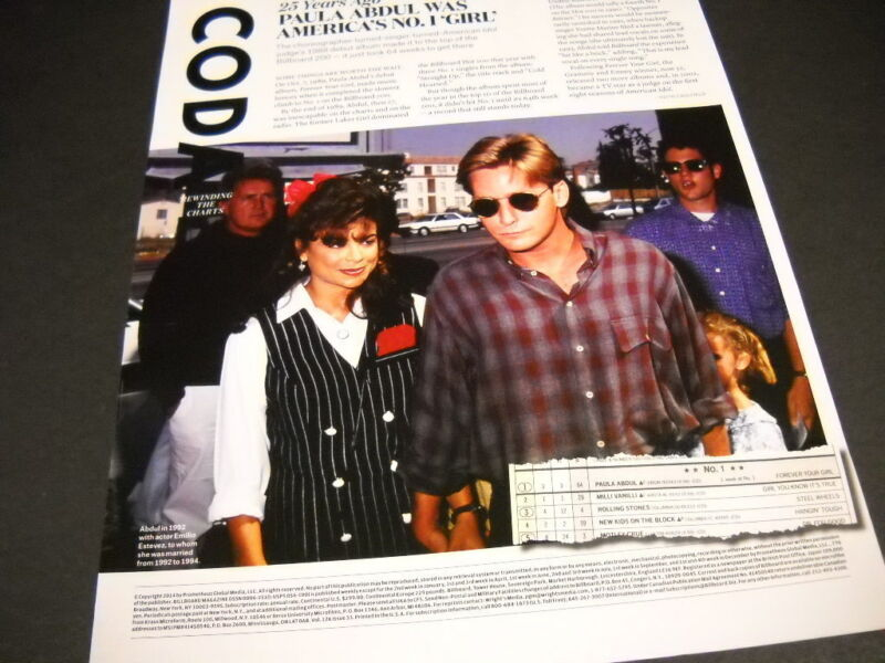 PAULA ABDUL Twenty Five Years Ago 2014 detailed retro PROMO POSTER PAGE AD