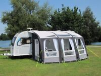 Kampa Air Ace 400 awning plus 'poled' annex (2014 model), Kampa carpet, organisers and roof lining
