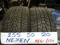2x 255 50 20 NEXENS BRAND £110 PAIR SUPP & FITD OPEN 7-DAYS TIL 5PM (LOADS MORE AV TXT SIZE