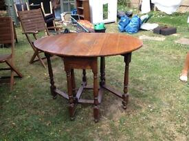 Small Solid wood drop leaf table