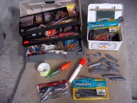 Anglers fishing tackle