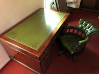 Captains desk and chair