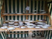 3 TIER CAKE STANDS APPROX 45 TO CHOOSE FROM