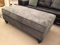 Sterling Furniture Large Haskell Storage Footstool/Pouffe