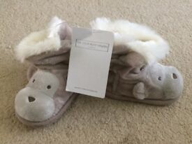 Little White Company booties 12-18 months