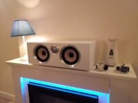 """Bowers and Wilkins cm s2 """"REDUCED TO SELL"""" Centre speaker in white. Like new"""