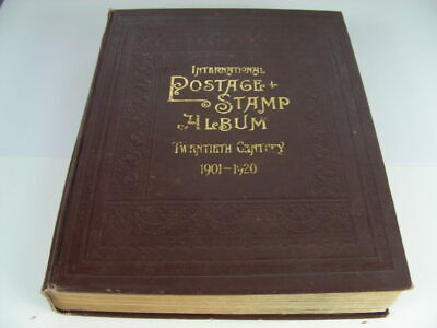 US/WW, EUROPE, 1000+ Stamps hinged on Brown Scott International album(1901-1920)