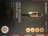 High-speed HDMI cable with ethernet and ultra slim digital optical cable
