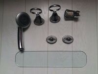 Bathroom Fixtures - Glass Shelf - Various Holders