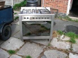indesit gas/electric range cooker