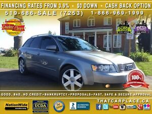 2004 Audi A4 3.0L-Loaded-Roof-Alum Wheels-Htd Fr & Back Sts