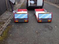 Fire engine beds + mattresses x 2 + matching bedding bundles