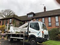 25m cherry picker hire with operator.