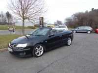 SAAB 9-3 SPORTS CONVERTIBLE STUNNING BLACK 2004 BARGAIN ONLY £1250 *LOOK* PX/DELIVERY