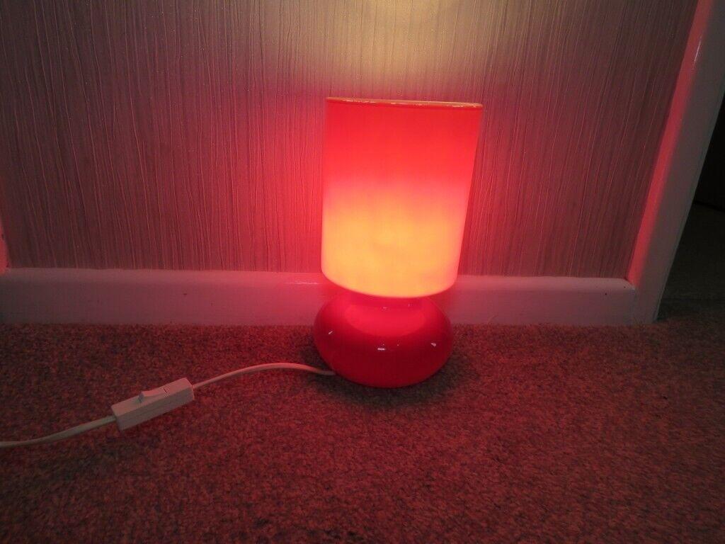 Ikea Lykta Red Glass Lamp In Stanford Le Hope Essex Gumtree