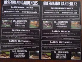 GARDENERS TREE SERVICES, GREEHAND GARDENERS