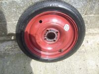 CITROEN/PEUGEOT/FORD. SPACER SAVER SPARE WHEEL 15 inch good tread/