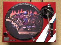 Technics SL-1210 MK2 Turntable With Custom Bowie Bolt Cover