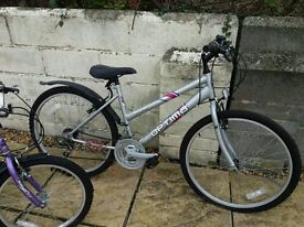ladys Optima 21 speed mountain only used once and Boys kids Moonman for 5yrs to 7ys as new