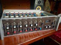 AUDIX MX T200 microphone preamps x6, mixer, vintage 70's, rare, British sound