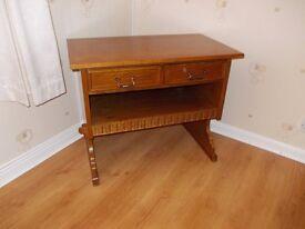Teak effect Wood T V Unit or Dressing Table / Drawer unit