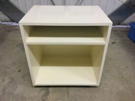 Small White Ikea bedside table/bathroom unit/storage in office